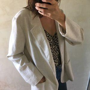 Vintage Jackets & Coats - Vintage oversized Miami Vice linen blazer